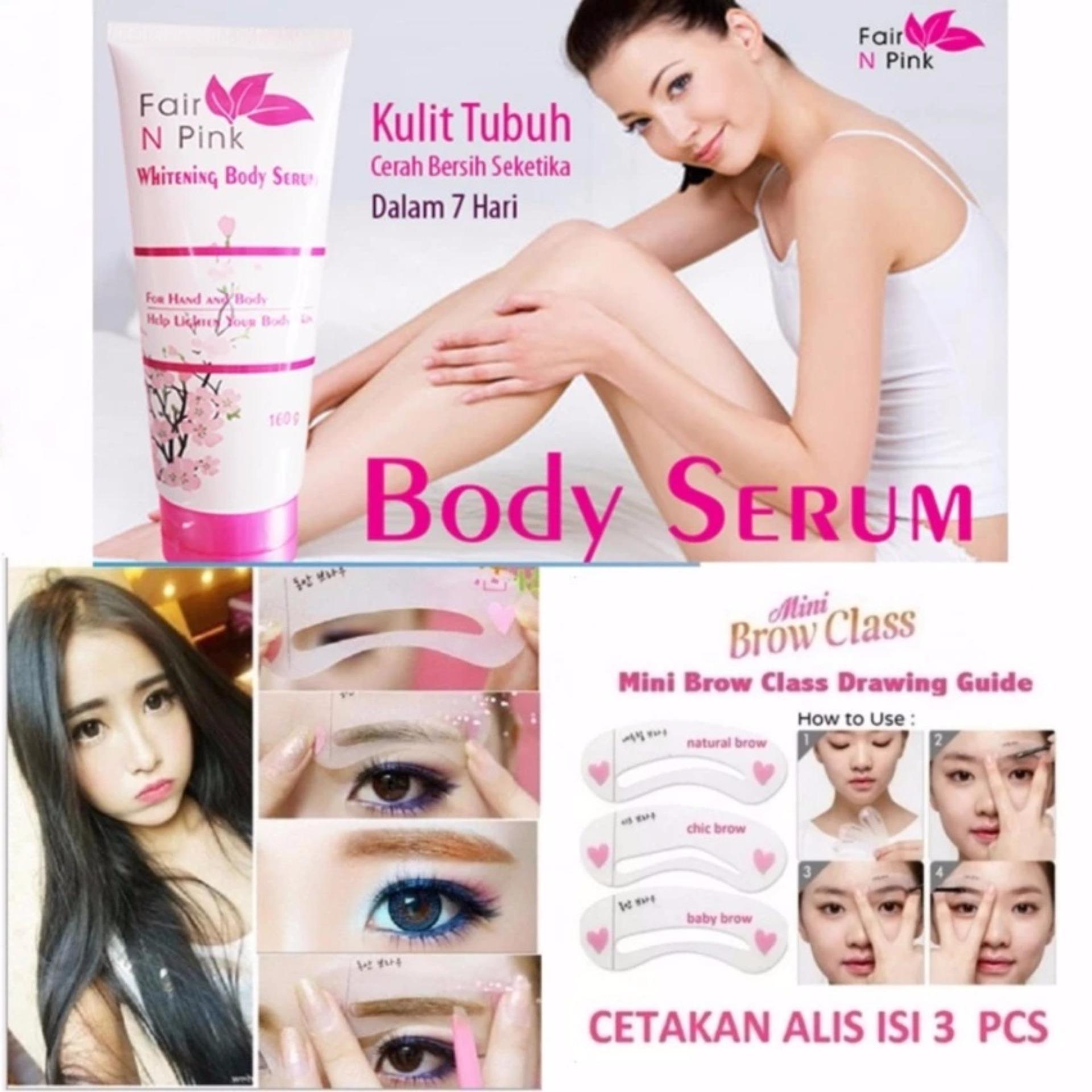 Perbandingan Harga Fair N Pink Body Serum Original Bpom Mini Whitening 160ml Pemutih Badan Cetakan Alis Brow Class Putih