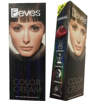 Feves Color Cream Cat Rambut 6.55 Wine Red