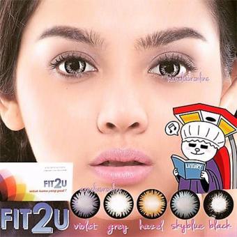 Fit2U Softlens - Violet + Gratis Lenscase - 5 .
