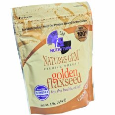 Flaxseed Nature's Gem Premium Omega-3 Golden Ground - 454gr