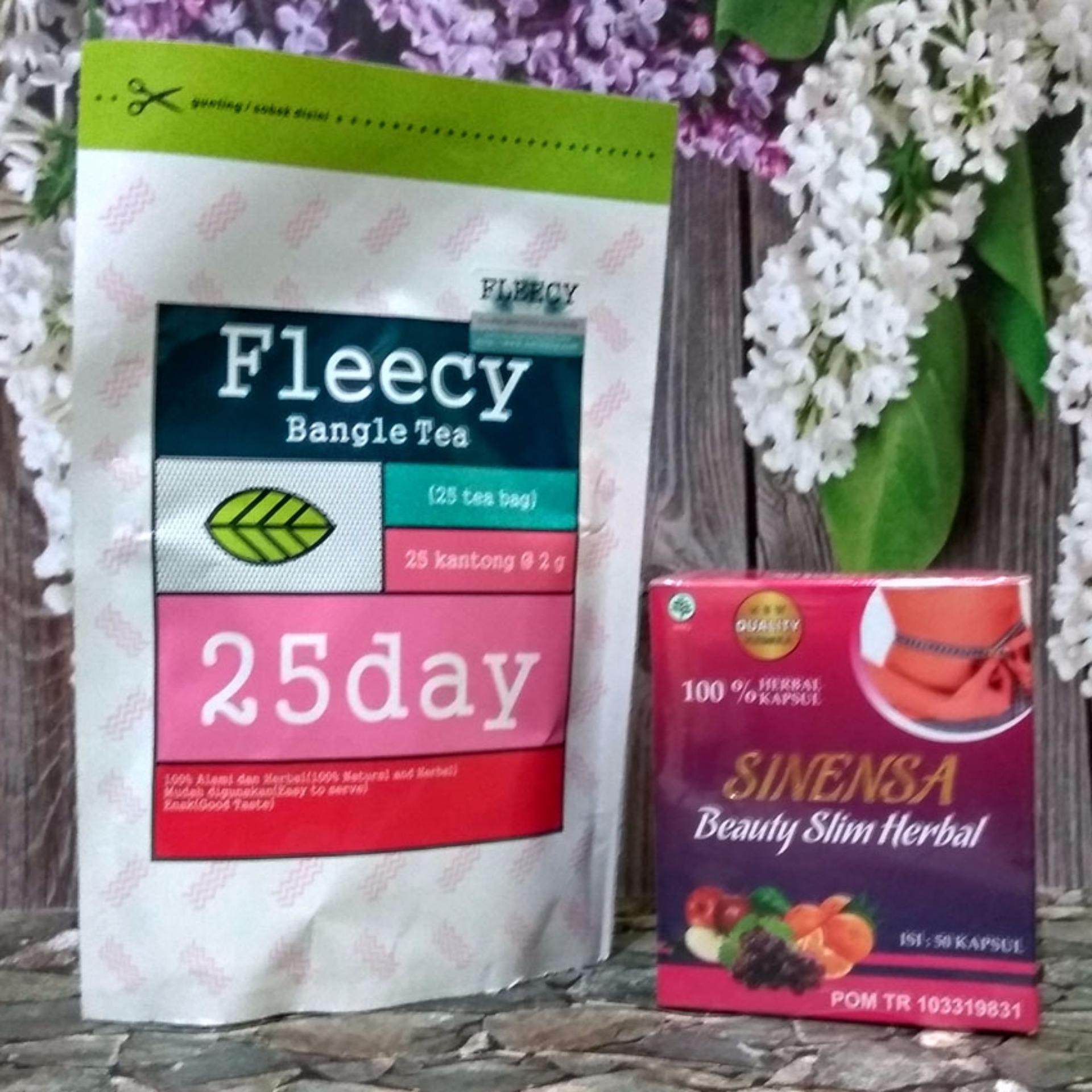 Belanja Terbaik Fleecy Bangle Tea Dan Sinensa Beauty Slim Berbal Obat Pelangsing Badan Original Flash Sale Paket