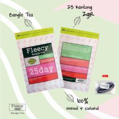 Fleecy Bangle Tea / Teh Pelangsing / 25 bag @2gr/ Original 100% Anti FAKE Sticker - 1Pcs + Free Ikat Rambut Polkadope - 1 Pcs