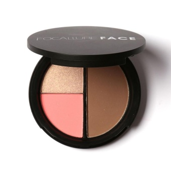 Focallure Repair Capacity Tri-color Powder Blush To Brighten The Shadow Outline - intl