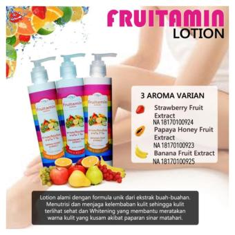 Fruitamin Body Lotion Varian Fruit Extract Original BPOM - 250ml