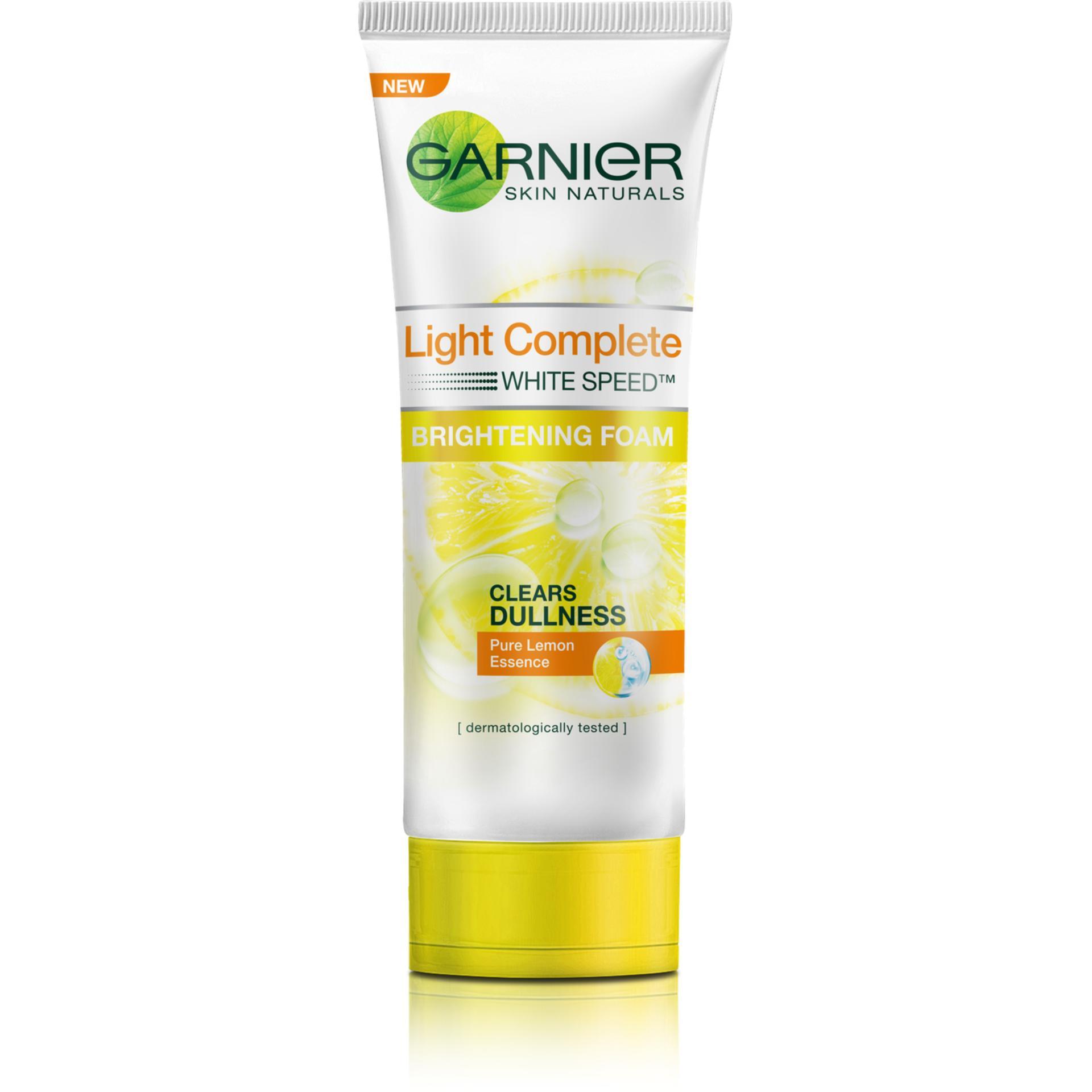 Harga Termurah Garnier Light Complete White Speed Foam 100 Ml Day Cream 20 Gr