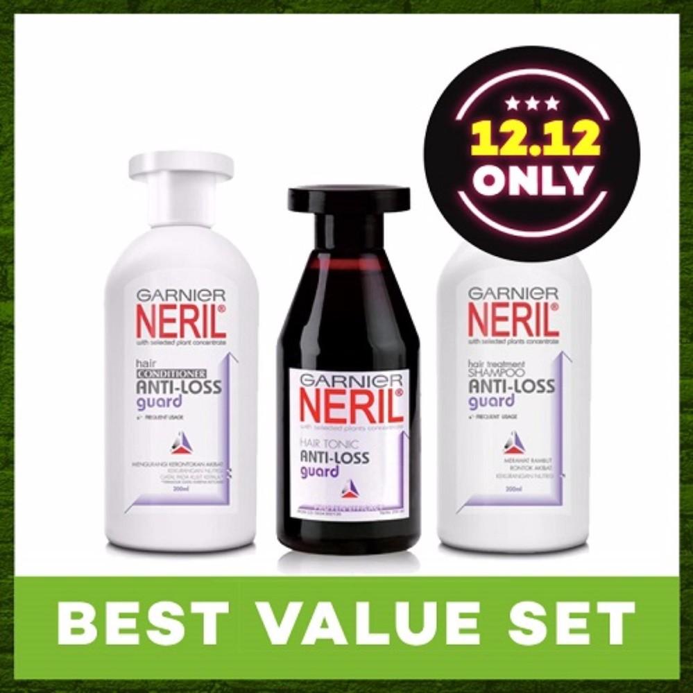 Garnier Neril Shampoo Anti Loss Guard 100 Ml Daftar Harga Terkini Tonic 200 Set Lazada Indonesia Source Hair Treatment Content