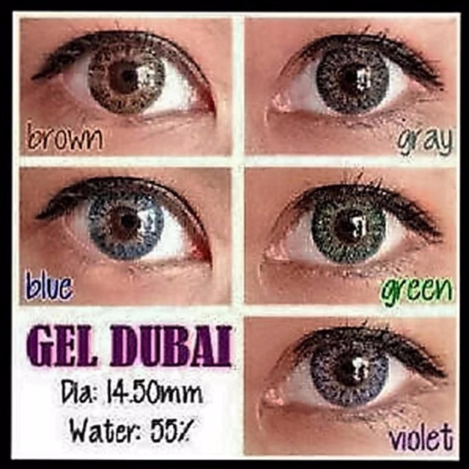... Gel New Dubai Softlens - Green + Free Lenscase + Cairan 60ml ...