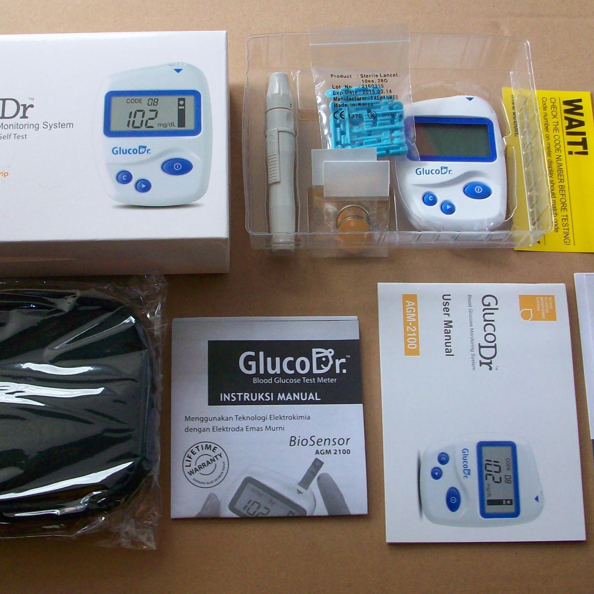 Belanja Terbaik Gluco Dr Bio Sensor Alat Gula Darah Strip Agm 2100 Cek Guladarah