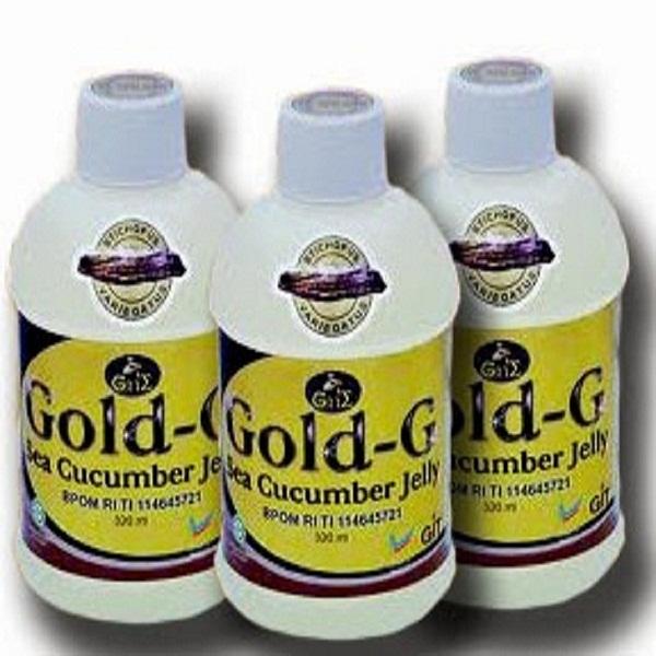 Gold-G Herbal Jelly Gamat Sea Cucumber - Isi 3 Botol x 320 mL