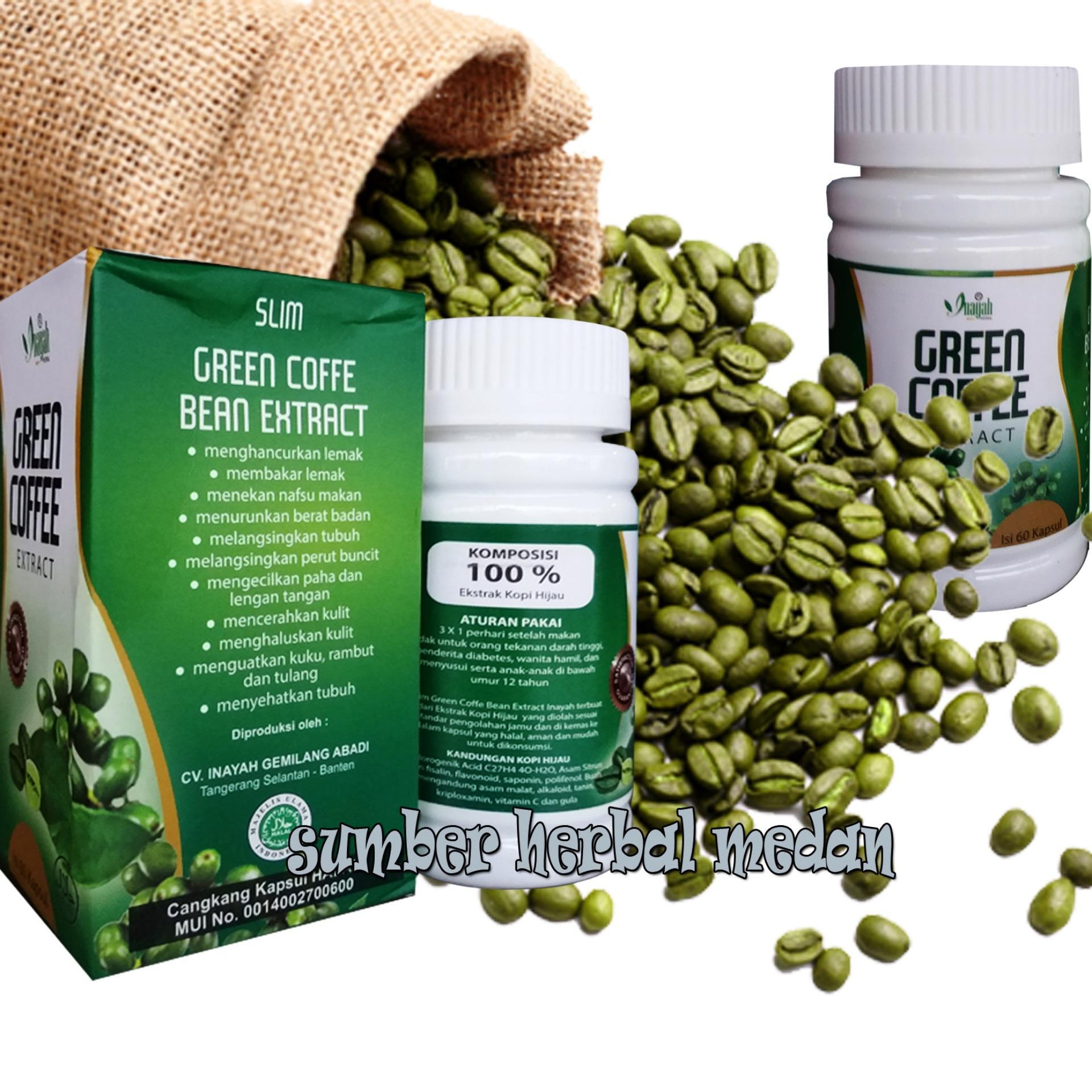 Harga Saya Green Coffee Bean Extract Inayah 60kapsul Ekstrak Kopi Hijau Diet Pelangsing Original