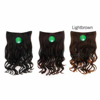 Harga Hairclip Cantik Big Layer 60cm Fullhead Wave – Light Brown Murah