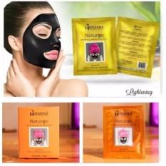 Hanasui Naturgo Masker Lumpur Wajah Sensitif - 1 BOX isi 10pcs