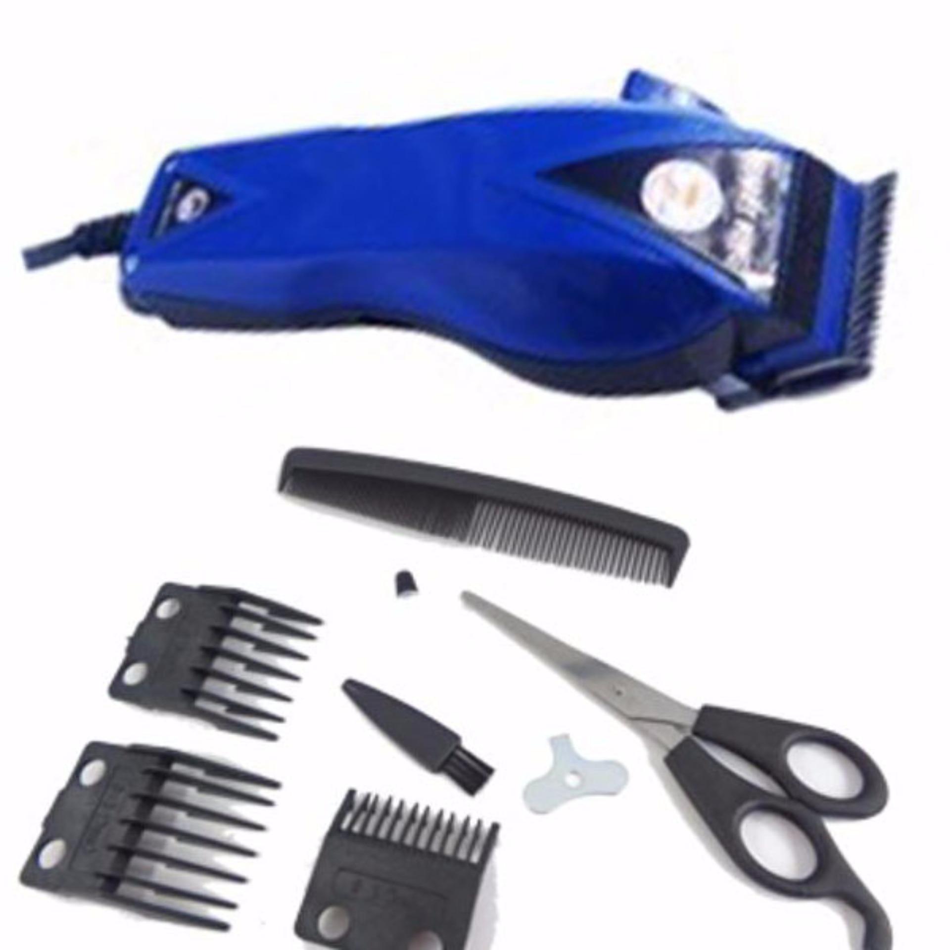 Flash Sale Happy King HK-900 Alat Cukur Rambut Hair Clipper Trimmer Mesin  Potong Professional Groomer 3 Mata Pisau Tajam Hemat Energi - Biru Tua 2023b8f74d