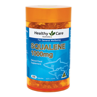 Healthy Care Squalene 1000mg - 200 Capsules