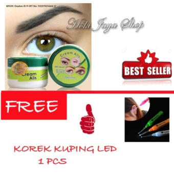 HOKI COD - Cream Alis New Original Premium - Penumbuh Dan Penebal Alis FREE Korek Kuping LED - 1 Pcs