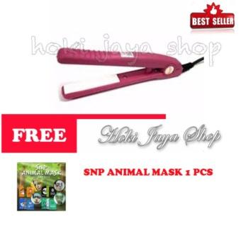 Harga HOKI COD – Haidi Catok Mini Pelurus Rambut – Pink – FREE SNP Animal Mask – 1 Sachet Murah