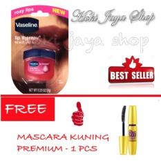 HOKI COD - Vaseline Lip Therapy Rosy Lips Therapy Premium - 1 Pcs FREE Mascara Model Kuning - 1 Pcs