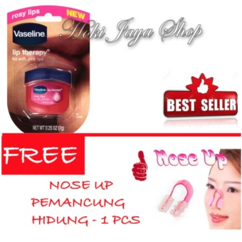 HOKI COD - Vaseline Lip Therapy Rosy Lips Therapy Premium - 1 Pcs FREE Nose Up Pemancung Hidung - 1 Pcs