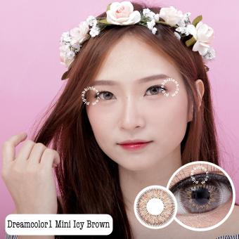 Harga Dreamcolor1 Mini Icy Brown Softlens - Minus 4.75 + Gratis Lenscase