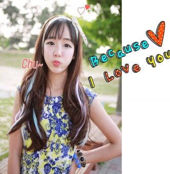Harga Colorful Synthetic Extension Clip On In Straight Long False Hair Piece Highlight White - intl