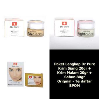 ... Krim Malam Pemutih Wajah Alami -1 pcs. Source · Bpom 3 Items Source · Harga Dr Pure Paket Whitening Cream Plus Sabun .