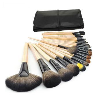 Pencil Makeup Source · 24pcs Wood Makeup Brushes Cosmetic Brushes Set Pouch Bag .