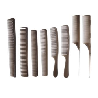 Harga 8PCS Professional Salon Hair Combs Hairdressing Styling Cutting Barber Stylist Tools Set - intl