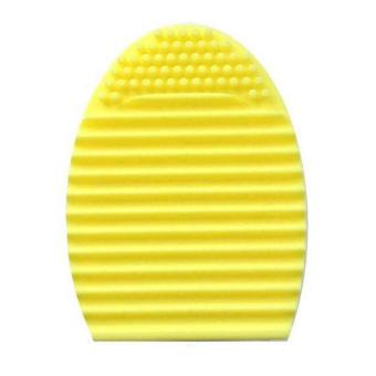 Brush Egg Cleaning Brush Tool Beauty Makeup Tools - Yellow