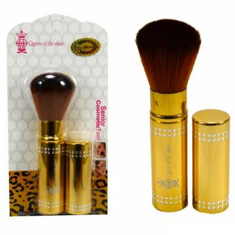 Harga Queen Of The Shine Make Up Brush / Rectrectable Brush / Kuas Blush On 002 (Gold)