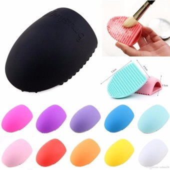 Brush Egg Cleaning Brush Tool Beauty Makeup Tools - Multicolor