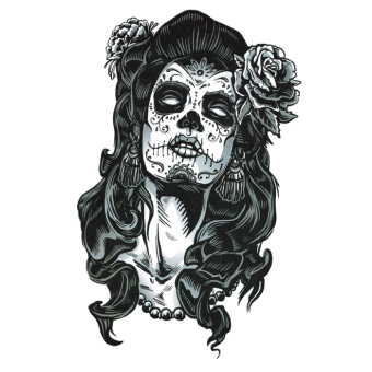 Harga Yika Removable Waterproof Skull Temporary Body Arm Tattoo Stickers (A073)