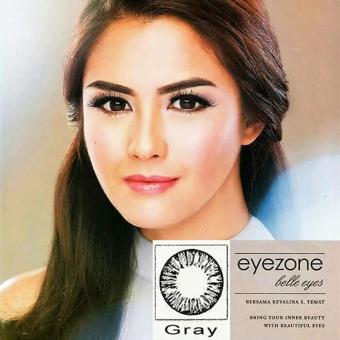 Harga Softlens Eyezone / Soft Lens Eye Zone Belle Eyes Made in Korea - Grey / Gray + Free Lenscase