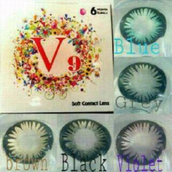 Harga Softlens V9 / Soft Lens V 9 Water 45% dia 14.5mm Colour Lens KOREA - Blue