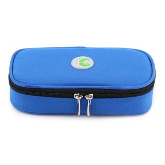 Harga Portable Diabetic Carrying Case Insulin Cooler Bag Holder Health Care Case (Blue) - intl