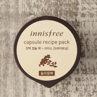 Harga Innisfree Capsule Recipe Pack Sleeping Pack Masker Wajah - Rice