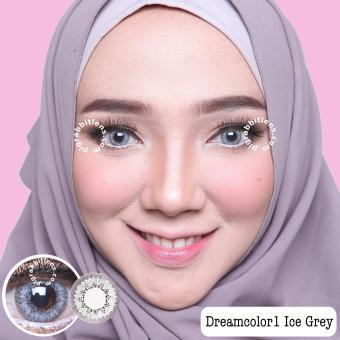 Dreamcolor1 Ice Grey Softlens - Minus 0.75 + Gratis Lenscase