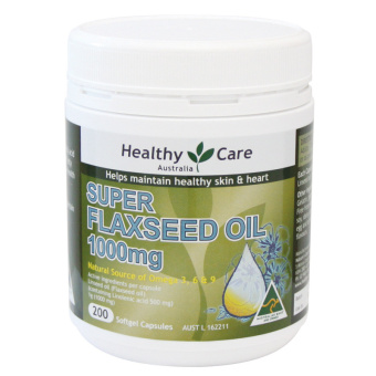 Harga Healthy Care Super Flaxseed Oil 1000 mg 200 Softgel