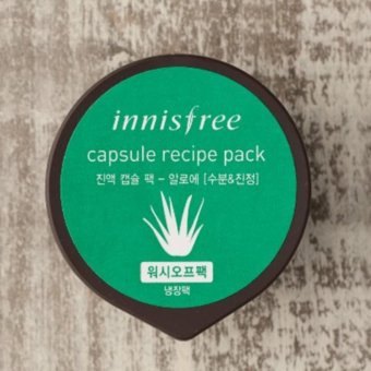 Harga Innisfree Capsule Recipe Pack Sleeping Pack Masker Wajah - Aloe Vera Lidah Buaya Wash off & Cold Pack