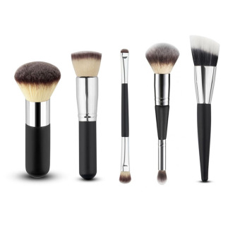 Harga Amart 5pcs Powder Blush Brush Facial Care Makeup Brushes(Silver)
