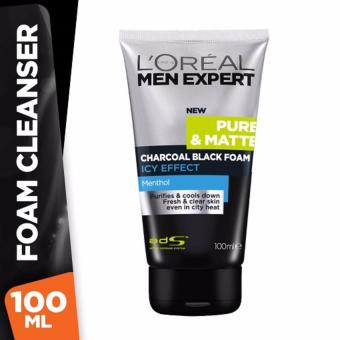 Harga L'Oreal Paris Men Expert Charcoal Black Foam Icy - 100 mL