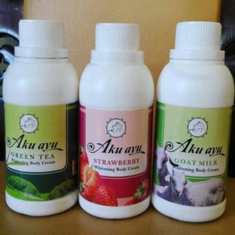 Harga AKU AYU-WHITENING BODY CREAM_STRAWBERRY 500ML_RAISYA