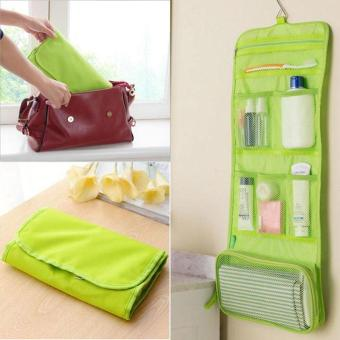 Harga Hight Quality Store New New Cosmetics Bags Makeup Storage Case Cosmetic Bag Travel Toiletry Wash Hanging Green