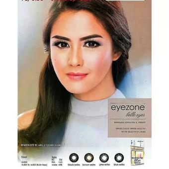 Harga Softlens Eyezone / Soft Lens Eye Zone Belle Eyes Made in Korea - Blue / Biru + Free Lenscase