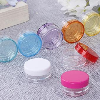 Harga 10Pcs 5g/ml Cosmetic Empty Jar Pot Eyeshadow Makeup Face Cream Container-Hot Pink - intl