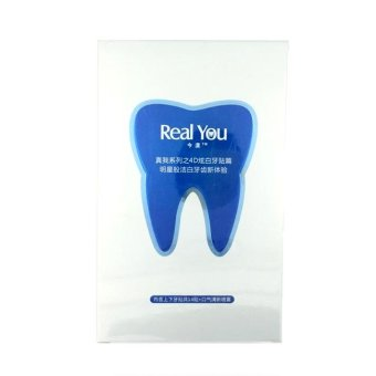 Harga Whiz Real You Whitening Teeth Sticker Tatto 1 Box = 7 Pieces - Stiker Tatto Pemutih Gigi Instant isi 7