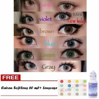 Harga Lucky Softlens New Bluk / Soft Lens NEWBLUK Baby Eyes Made in Korea - Blue + Gratis Cairan Softlens 60 ml + Lenscase