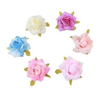 Harga Ai Home 6pcs Hairpin Simulation Rose Corsage Flower Hair Accessories (Mix Color) - intl