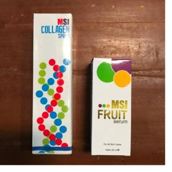 Harga PAKET MSI Collagen Spray 75 ml + MSI fruit serum Wajah