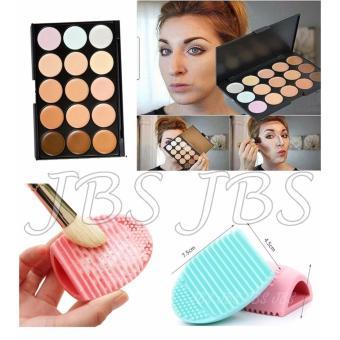 ... Pembersih Kuas Make Up Multi Colour Katalog Source · Jbs Makeup Brush Cleaner Cleaning Washing Foundation Brushegg Source Mn Menow Pro 15 Color Contour
