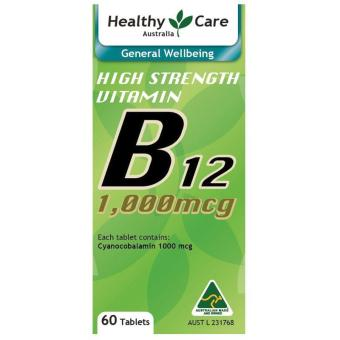 Harga Healthy Care High Strength Vitamin B12 1000mcg - 60 Tablets